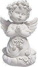 Statua d'angelo, angelo retrò con statuetta