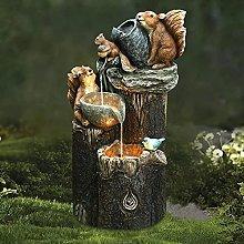 Statua Da Giardino Statuette Di Scoiattolo Con La