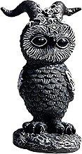 Statua decorativa da giardino a forma di gufo,