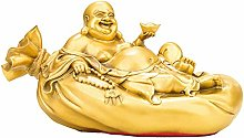 Statua Decorativa in Ottone, Borsa del Buddha