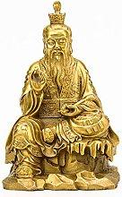 Statua Decorativa in Ottone, Taishang Laojun -