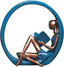 Statua decorativa ragazza yoga posa scultura