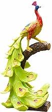 Statua del giardino del pavone di resina, sculture