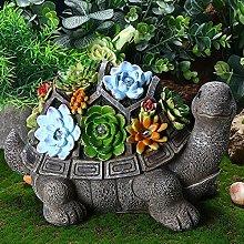 Statua del Giardino Turtle Figura,Solare Statue