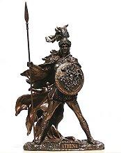 Statua della dea greca Athena Minerva Guerriero