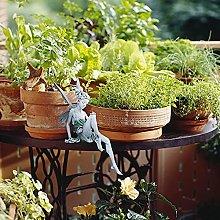 Statua Della Fata Seduta,Giardino In Miniatura