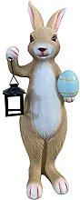 Statua della lampada da trasporto coniglio,