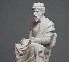 Statua di alabastro greco filosofo Platone