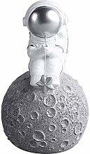 Statua di astronauta, scultura di pianeta Figura