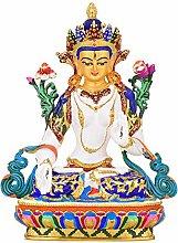 Statua Di Buddha Bianca In Rame Puro Colorato,