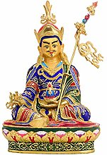 Statua Di Buddha Di Loto In Rame Puro Colorato,