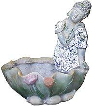 Statua di Buddha di Zen in stile cinese, vaso di