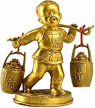 Statua di Buddha in Ottone, Scultura per Bambini,