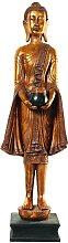 Statua di Buddha in piedi in resina dorata H 142 cm