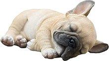 Statua di bulldog, scultura di cucciolo in resina,