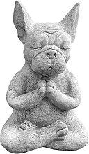 Statua di cane, scultura di meditazione a gambe