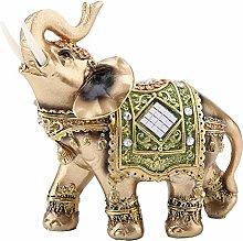 Statua di elefante a colori in poliresina elefante