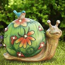 Statua di figurina di lumaca da giardino -