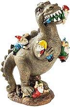 Statua di gnomo da giardino allaperto - dinosauro