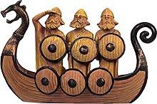 Statua di nave vichingo, statua di nave drago, in