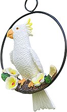 Statua di pappagallo sospesa, piccola scultura di