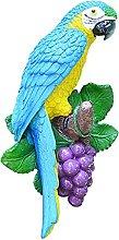 Statua di pappagallo sospesa, scultura di uccello,