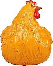 Statua di pollo, gallina di sicurezza sul recinto,