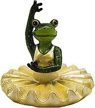 Statua di rana galleggiante, statuetta di rana