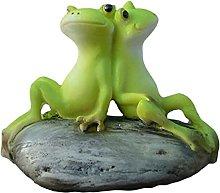 Statua di rana in resina, mini rana in resina,