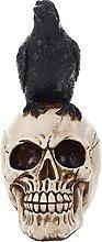 Statua di scheletro di corvo in resina di