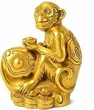 Statua Di Scimmia Di Rame Puro, Casa Soggiorno
