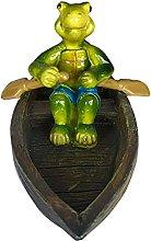 Statua di tartaruga di piscina, statuetta di rana