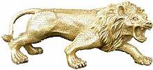 Statua Golden Elephant Scultura Decorazione