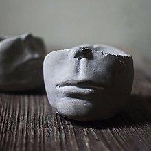 Statua Greca Cemento Testa Fioriera,Indoor Outdoor