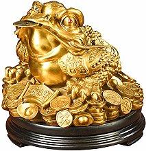 Statua in Ottone di Kaiguang Money Frog, Rospo