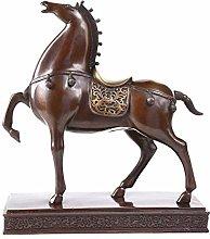 Statua in Ottone, Scultura Moderna in Puro Rame,