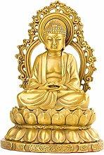 Statua In Ottone, Statua Del Buddha Di Sakyamuni,