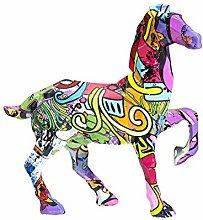 Statua in resina Animale Geometria Cavallo Arte