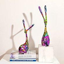 Statua in resina Artigianato in resina a colori,