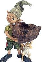 Statua in resina scoiattolo, 27,5 x 11 x 26 cm,