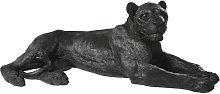 Statua leonessa nera, L 112 cm