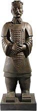Statua marrone Guerriero di Xian in fibra