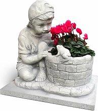 statua porta vaso da giardino 'tommy' in