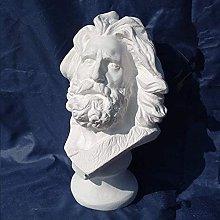 Statua Scultura Statua Personaggio Busto Gesso