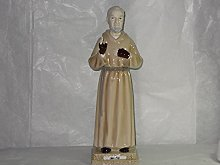 Statua statuina porcellana San Padre Pio da