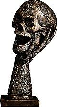 Statuetta di scheletro, statua di teschio,