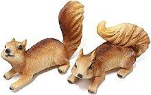 Statuette di scoiattolo, 2 scoiattolo, decorazione