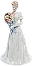 Statuina in porcellana sposa misura 27 cm di
