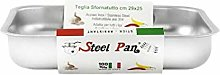 steel pan 14252 Teglia, Stainless Steel, Argento