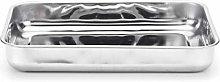 steel pan Bavaria Teglia, Stainless Steel, Grigio,